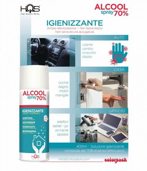 HQS Bomboletta igienizzante spray 70% alcool - Casa Auto Ufficio