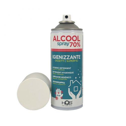HQS Bomboletta igienizzante spray 70% alcool